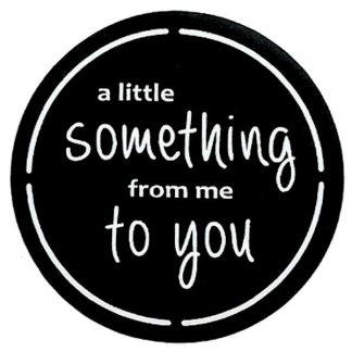 A Little Something B&W Sticker