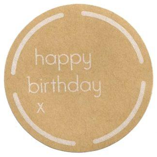 Happy Birthday Kraft Sticker