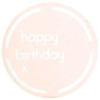 Happy Birthday Pink Sticker