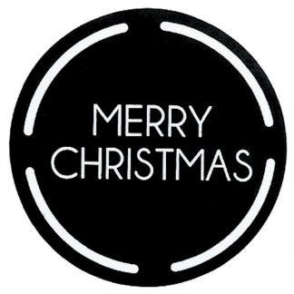 Merry Christmas Black Sticker