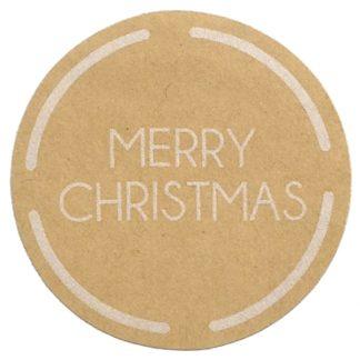 Merry Christmas Kraft Sticker
