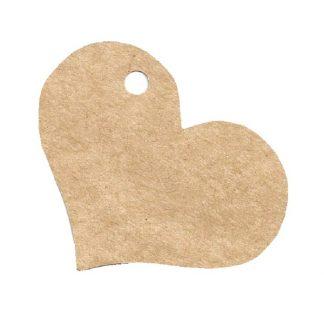 Heart Shape - Kraft Gift Tag