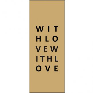 With Love Kraft Gift Tag